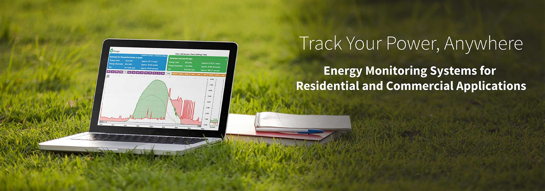 eGauge energy meter and free user interface for real-time         renewable energy monitoring, power analysis, submetering,         energy audits, load studies, permanent metering and temporary         metering